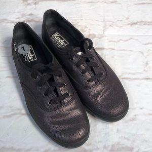 Keds shoes.  Size 7. Black metallic